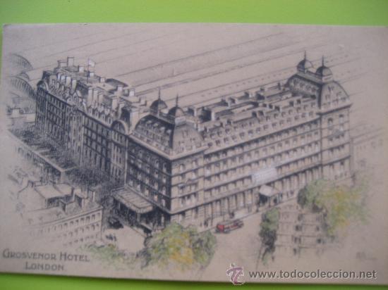 LONDRES. GROSVENOR HOTEL. SIN CIRCULAR (Postales - Postales Temáticas - Hoteles y Balnearios)