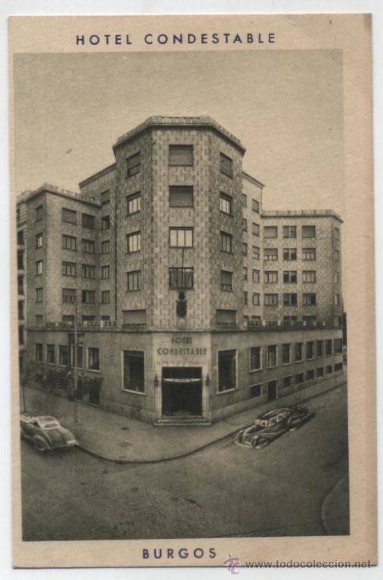 BURGOS.- HOTEL CONDESTABLE. POSTAL PUBLICITARIA. (Postales - Postales Temáticas - Hoteles y Balnearios)