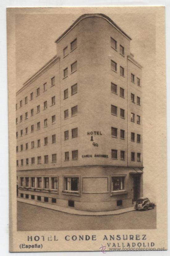 VALLADOLID.- HOTEL CONDE ANSUREZ.TARJETA PUBLICITARIA DEL HOTEL. (Postales - Postales Temáticas - Hoteles y Balnearios)