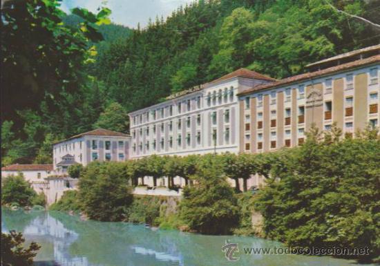 GUIPUZCOA.- HOTEL DEL BALNEARIO ALZOLA. FECHADO Y FRANQUEADO EN ALZOLA EN 1969. (Postales - Postales Temáticas - Hoteles y Balnearios)