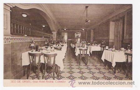 GRAN HOTEL ANDRIA-COMEDOR-SEO DE URGEL (Postales - Postales Temáticas - Hoteles y Balnearios)