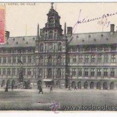 Postales: L,HOTEL DE VILLE-ANVERS-CIRCULADA EN 1919. Lote 36823055