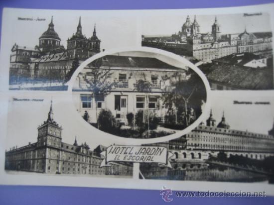 HOTEL JARDIN. EL ESCORIAL. H.A.E. ESCRITA (Postales - Postales Temáticas - Hoteles y Balnearios)