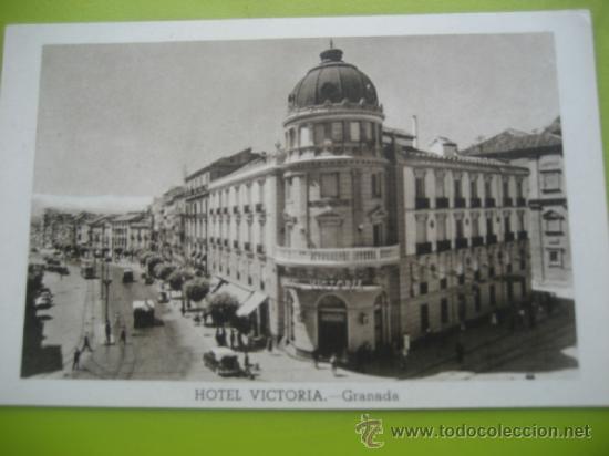 GRANADA. HOTEL VICTORIA. (Postales - Postales Temáticas - Hoteles y Balnearios)