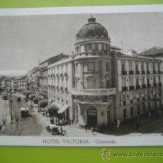 Postales: GRANADA. HOTEL VICTORIA. . Lote 37571456