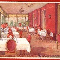 Postales: TARJETA DEL HOTEL DREI KONIGE (TERRAZA COMEDOR) - BADEN-BADEN, ALEMANIA - BIEN CONSERVADA Y SIN USAR. Lote 37548802