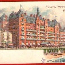 Postales: TARJETA POSTAL DEL HOTEL METROPOLE DE BRIGHTON - BIEN CONSERVADA Y SIN USAR. Lote 37548829