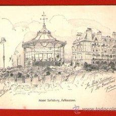 Postales: ANTIGUA POSTAL HOTEL SALISBURY - FOLKESTONE - SIN USAR - MADE IN GRAN BRETAÑA. . Lote 37652461