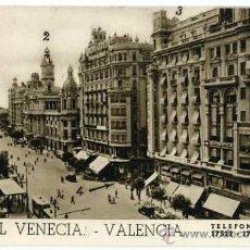 Postales: POSTAL HOTEL SUIZO MADRID Y HOTEL VENECIA VALENCIA. Lote 37844799