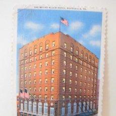 Postales: THE NECHO ALLEN HOTEL POTTSVILLE,PA CIRCULADA 1956. Lote 38363691