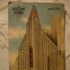 Postales: TARJETA POSTAL HOTEL VICTORIA RADIO CITY NEW YORK, AÑO 1916. Lote 39506610