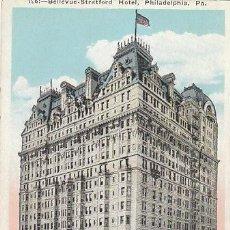 Postales: BELLEVUE-STRATFORD HOTEL, PHILADELPHIA (ESTADOS UNIIDOS). Lote 39619025