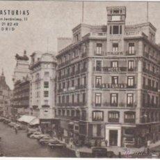 Postales: MADRID.- HOTEL ASTURIAS,. Lote 40027906
