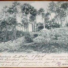 Postales: ANTIGUA POSTAL AGUAS DE MONDARIZ - BALNEARIO - ALREDEDORES - CIRCULADA.. Lote 38245232