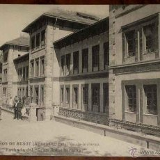 Postales: ANTIGUA POSTAL DEL BALNEARIO DE BUSOT -ALICANTE - SERIE I - FACHADA DEL GRAN HOTEL MIRAMAR - ED. HAU. Lote 38254478