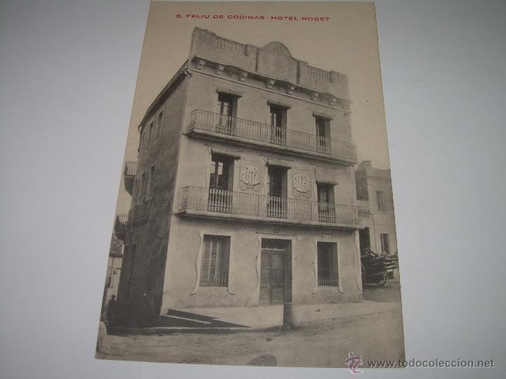 ANTIGUA POSTAL....S.FELIU CODINAS......HOTEL ROGET...PRIMER PREMIO CONCURSO HOTELES. (Postales - Postales Temáticas - Hoteles y Balnearios)