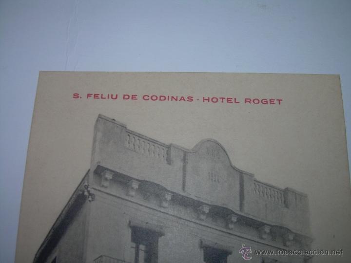 Postales: ANTIGUA POSTAL....S.FELIU CODINAS......HOTEL ROGET...PRIMER PREMIO CONCURSO HOTELES. - Foto 2 - 40749987