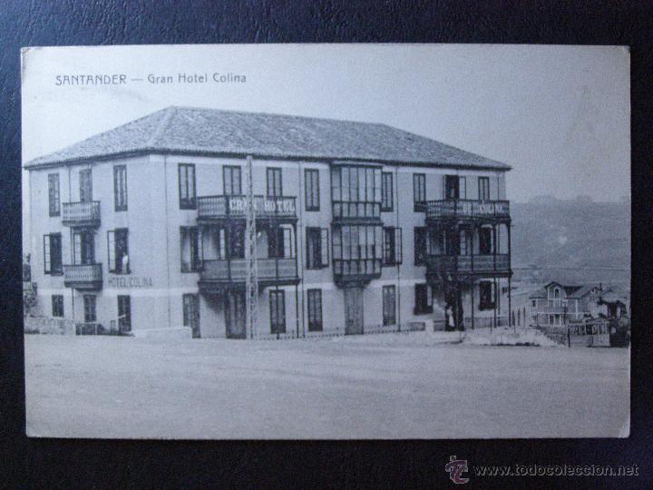 ANTIGUA POSTAL - GRAN HOTEL COLINA - SANTANDER - E. CABRILLO - TORRELAVEGA -SIN CIRCULAR, NO ESCRITA (Postales - Postales Temáticas - Hoteles y Balnearios)