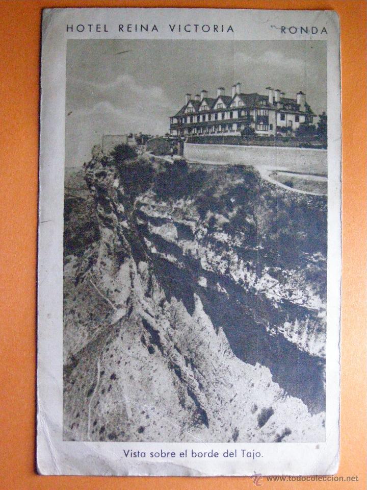 ANTIGUA POSTAL - HOTEL REINA VICTORIA - RONDA - F. MESAS - ARTE BILBAO - SIN ESCRIBIR - (Postales - Postales Temáticas - Hoteles y Balnearios)