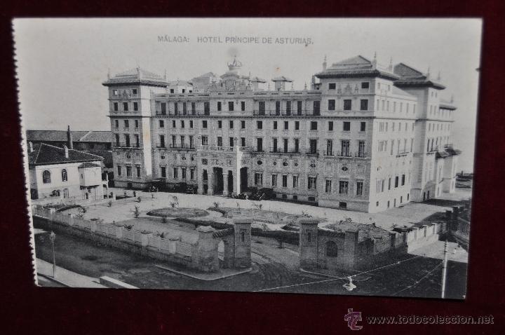ANTIGUA POSTAL DE MALAGA. HOTEL PRINCIPE DE ASTURIAS. SIN CIRCULAR (Postales - Postales Temáticas - Hoteles y Balnearios)