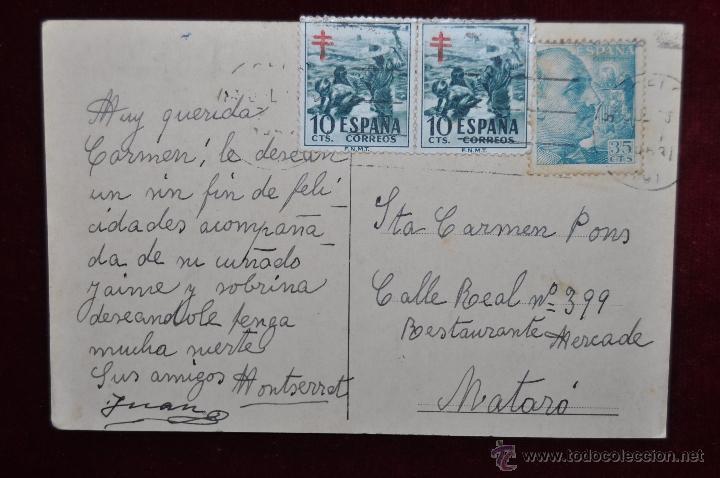 Postales: ANTIGUA POSTAL DE HOTEL ORIENTE. BARCELONA. SITUADO EN RAMBLAS. CIRCULADA - Foto 2 - 43090120
