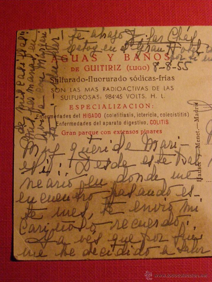 Postales: Antigua Postal - Guitiriz - Vista nuevos Pabellones Hotel del balneario - Lugo - Escrita - - Foto 2 - 43131731