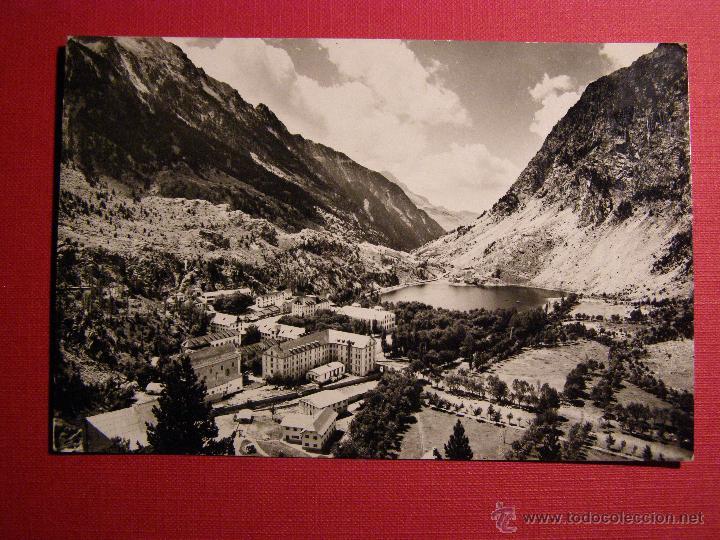 POSTAL - BALNEARIO DE PANTICOSA - HUESCA - EDICIONES SICILIA - VISTA GENERAL - ESCRITA - 1963 (Postales - Postales Temáticas - Hoteles y Balnearios)