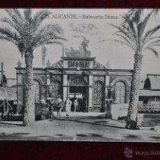 Postales: ANTIGUA POSTAL DE ALICANTE. BALNEARIO DIANA. CIRCULADA. Lote 43174021