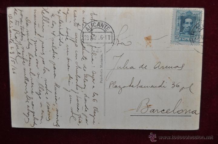 Postales: ANTIGUA POSTAL DE ALICANTE. BALNEARIO DIANA. CIRCULADA - Foto 2 - 43174021
