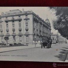 Postales: ANTIGUA POSTAL DE SAN SEBASTIAN. HOTEL MARIA CRISTINA. HAUSER Y MENET. SIN CIRCULAR. Lote 43217340