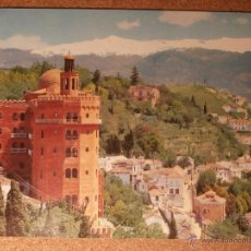Postales: POSTAL HOTEL ALHAMBRA PALACE - GRANADA - SIERRA NEVADA - EDICIONES C.P.A. - NO ESCRITA NI CIRULADA. Lote 43228691