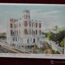 Postales: ANTIGUA POSTAL DE SANTA CRUZ DE TENERIFE. HOTEL BRITANNIQUE. CIRCULADA. Lote 43246632