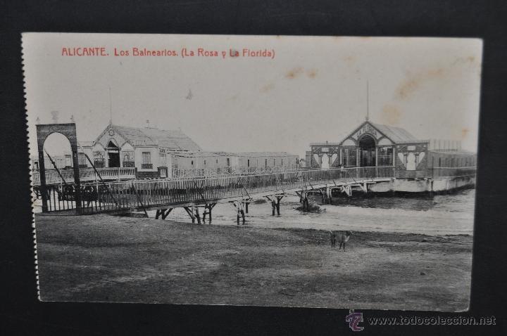 ANTIGUA POSTAL DE ALICANTE. LOS BALNEARIOS (LA ROSA Y LA FLORIDA). FOTPIA THOMAS. SIN CIRCULAR (Postales - Postales Temáticas - Hoteles y Balnearios)