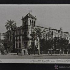 Postales: ANTIGUA POSTAL DE SEVILLA. ANDALUCIA PALACE, ANTES HOTEL ALFONSO XIII. SIN CIRCULAR. Lote 43728062