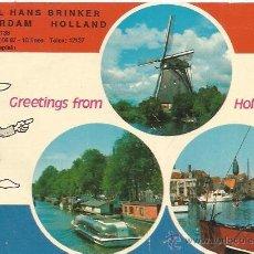 Postales: == C767 - POSTAL - HOTEL HANS BRINKER - AMSTERDAM - HOLLAND. Lote 43916784