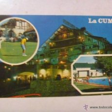 Postales: POSTAL DE CORDOBA ( ARGENTINA ) : HOTEL LA CUMBRE . 10 X 18 CM.. Lote 44091354