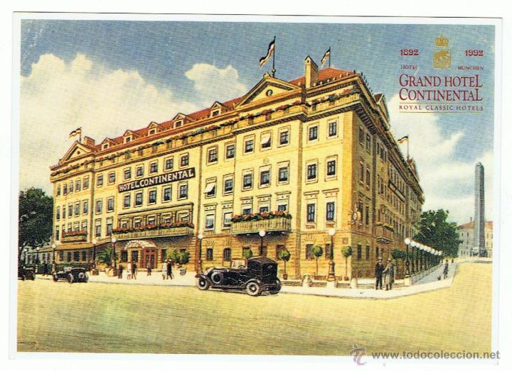 GRAND HOTEL CONTINENTAL 1892-1992. MUNCHEN. (Postales - Postales Temáticas - Hoteles y Balnearios)