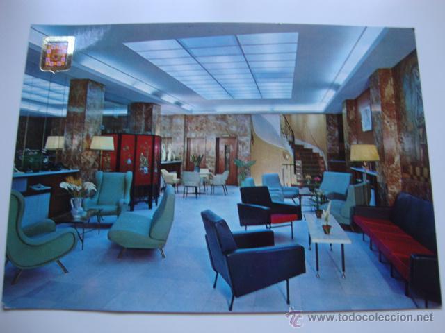 POSTAL AÑOS 60/70 INTERIOR HOTEL MUEBLES VINTAGE AÑOS 70 (Postales - Postales Temáticas - Hoteles y Balnearios)