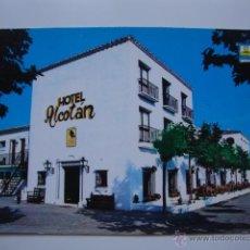 Postales: POSTAL HOTEL ALCOTAN AÑOS 60/70. Lote 44321360