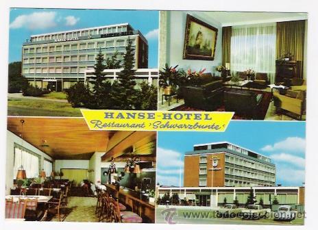 HANSE-HOTEL-RESTAURANT SCHWARGBUNTE-LUBECK-ALEMANIA (Postales - Postales Temáticas - Hoteles y Balnearios)
