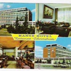 Postales: HANSE-HOTEL-RESTAURANT SCHWARGBUNTE-LUBECK-ALEMANIA. Lote 44456087