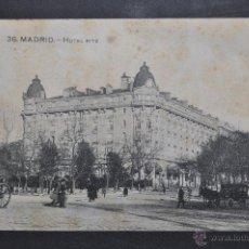 Postales: ANTIGUA POSTAL DE MADRID. HOTEL RITZ. CIRCULADA. Lote 44891307