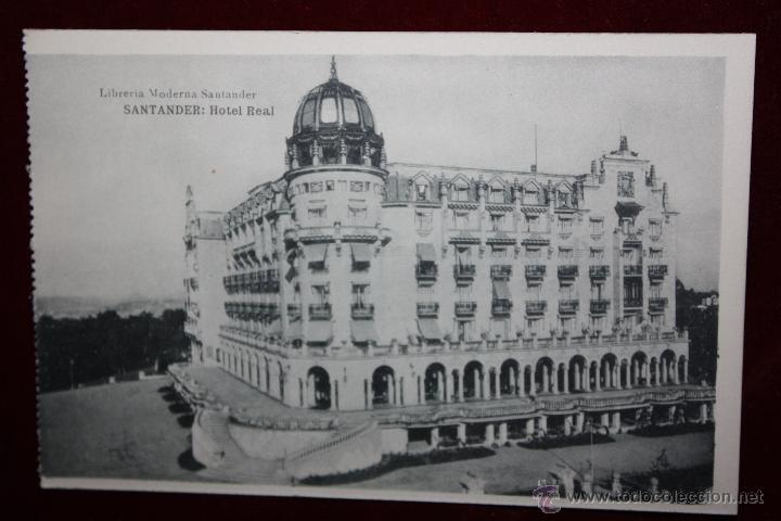 ANTIGUA POSTAL DE SANTANDER. CANTABRIA. HOTEL REAL. FOTPIA. HAUSER Y MENET. SIN CIRCULAR (Postales - Postales Temáticas - Hoteles y Balnearios)