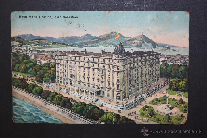 ANTIGUA POSTAL DEL HOTEL MARIA CRISTINA. SAN SEBASTIAN. ESCRITA (Postales - Postales Temáticas - Hoteles y Balnearios)