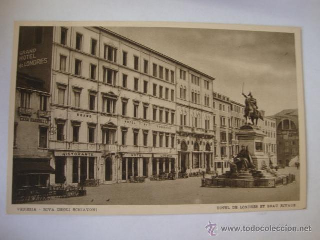 TARJETA POSTAL NO CIRCULADA HOTEL DE LONDRES VENEZIA LA250 (Postales - Postales Temáticas - Hoteles y Balnearios)