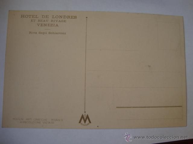 Postales: TARJETA POSTAL NO CIRCULADA HOTEL DE LONDRES VENEZIA LA250 - Foto 2 - 46073018