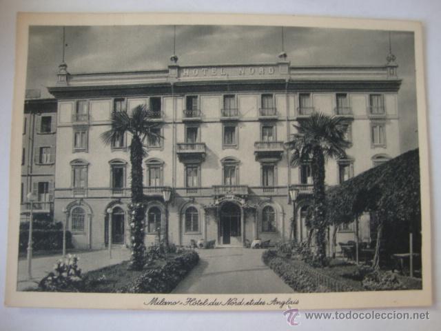 TARJETA POSTAL NO CIRCULADA HOTEL DU NOD ET DES ANCLAIS MILANO LA250 (Postales - Postales Temáticas - Hoteles y Balnearios)