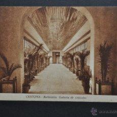 Postales: ANTIGUA POSTAL DE CESTONA. GUIPUZCOA. BALNEARIO, GALERIA DE CRISTALES. SIN CIRCULAR. Lote 46284327