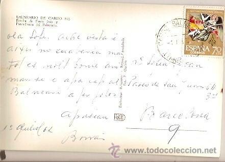 Postales: ANTIGUA POSTAL 502 BALNEARIO DE CARDO ERMITA DE SANTA INES Y PANORAMICA DEL BALNEARIO FOTO F GUILERA - Foto 2 - 46517334