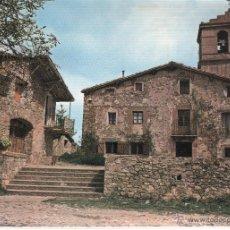 Postales: POSTAL DE SANT PAU DE SEGURIES GIRONA ESGLESIA PARROQUIAL I CASA DE COLONIES. Lote 49379888